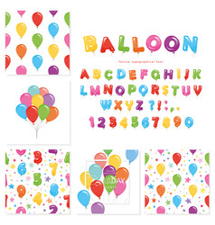 balloon big set for birthday and holidays design vector image vector image