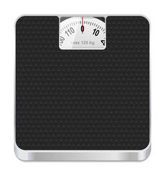 bathroom scale icon vector image vector image