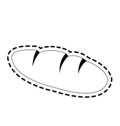 bread loaf icon image vector image