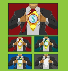 Businessman hero cover vector image