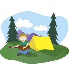 camp songs vector image vector image