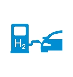 Car hydrogen station icon vector
