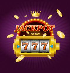 casino gambling game jackpot concept card vector image vector image