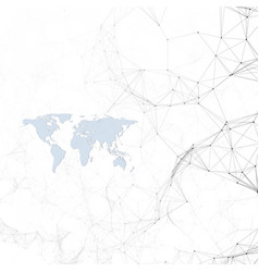 chemistry pattern blue world map connecting vector image vector image