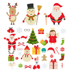 christmas festive new year decorations vector image vector image