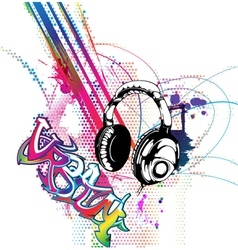 colorful music background vector image vector image