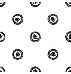 columbus day pattern seamless black vector image vector image