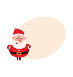 Cute and funny Santa Claus with round belly vector image