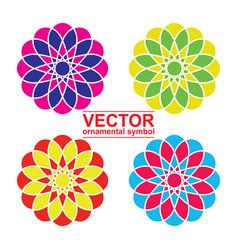 Geometric logo template set vector