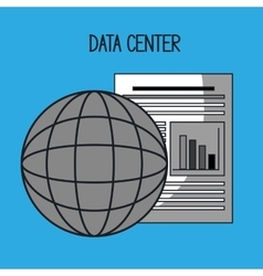 global data center vector image