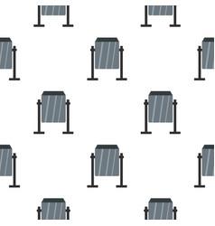 Grey metal dust bin pattern seamless vector