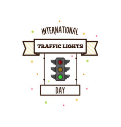 International traffic lights day vector
