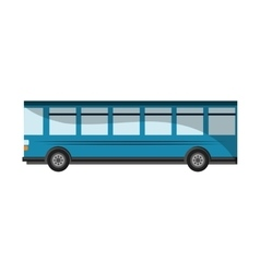 Isolated bus vehicle design vector