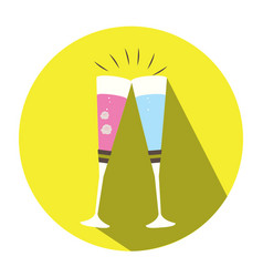 isolated pair of cocktails vector image