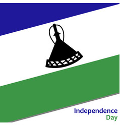 Lesotho independence day vector