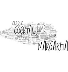 Margarita word cloud concept vector