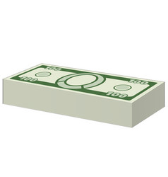 money bundle icon vector image
