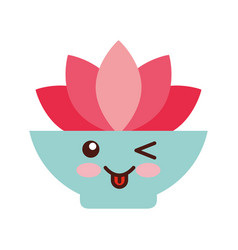 natural flower spa kawaii character vector image
