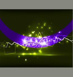 Neon lightning background vector