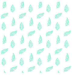 Plant leaf trendy seamless pattern vector