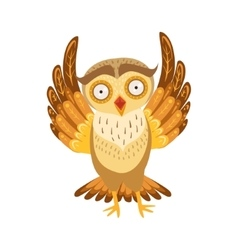 Scared Owl Cute Cartoon Character Emoji With vector image