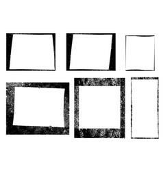 Set of frames textures lines and brushes vector