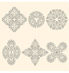 Set of geometrical emblems vector image vector image
