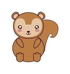 Squirrel kawaii cute animal icon vector