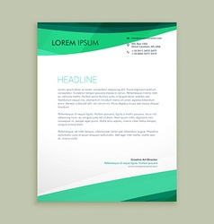 Stylish wave letterhead design vector