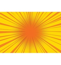 The sun comic book retro pop art background vector image vector image