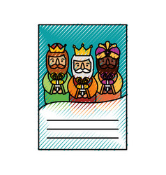 Three kings of orient letter dear wise men vector