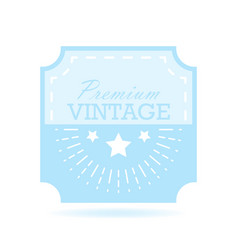 Vintage label design template for you logo vector