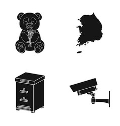 Zoo toy beekeeping and other web icon in black vector