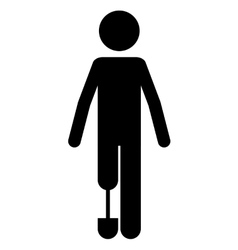 Person with foot prosthesis isolated icon design vector