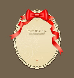 Red ribbons and circle paper vector
