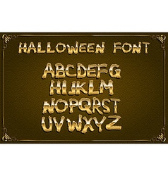 Spooky and magical alphabet set vector