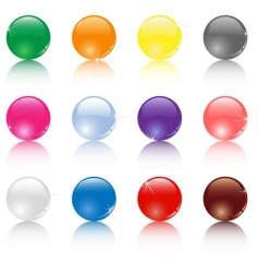 Set of different colored balls vector