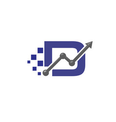 letter d business logo vector image