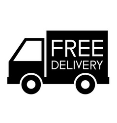 Free delivery support icon vector