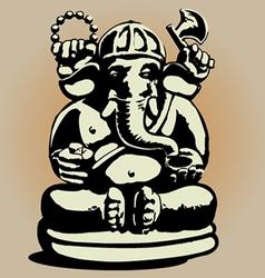Dewa Ganesha vector image