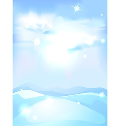 Snowy winter landscape background - vertical vector