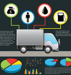 An infochart of a delivery van vector