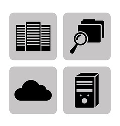 Data center icons vector