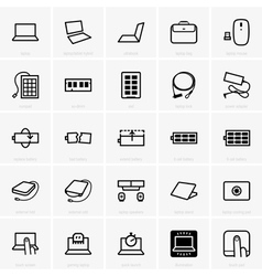 Laptop accessories vector