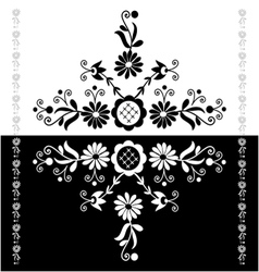Folk pattern decor-b vector