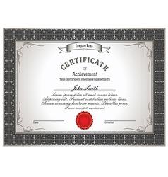 certificate new 2015 vector image