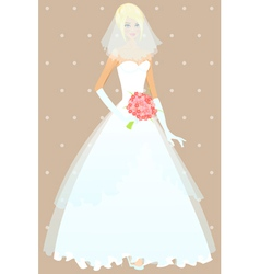 Beautiful girl in wedding dress vector