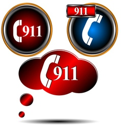 911 emergency set vector