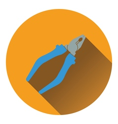 Icon of pliers vector