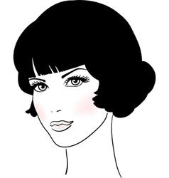 Beautiful Cute Girl Face vector image vector image